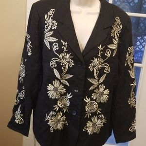 Victor Costa Occasion linen blend jacket
